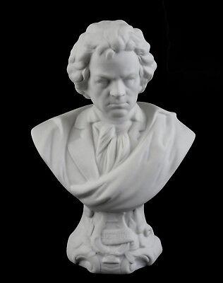 Selbstlos 9944079 Porzellan Figur Büste Ludwig Van Beethoven Bisquit Kämmer H19cm äSthetisches Aussehen
