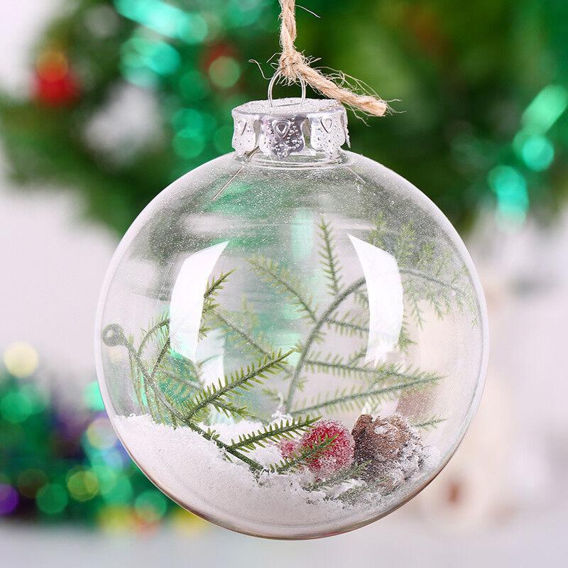 Weihnachtskugeln Christbaumkugeln Christbaumkugeln Christbaumkugeln Klar Geschäft Weihnachtsbaum Hänger Glaskugeln 3be392