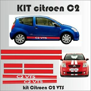 Citroen-C2-VTS-kit-bandes-Stickers-autocollants-adhesifs-voiture
