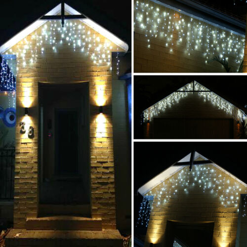 3.5-100M LED Icicle Hanging Christmas Bulbs String Fairy Curtain Lights 220//110V