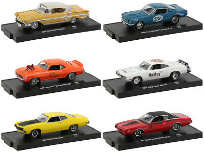"""6 PC SET 1//64 DIECAST MODEL CARS BY M2 MACHINES 11228-64 /""""DRIVERS/"""" RELEASE 64"""