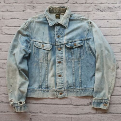 Vintage Lee Sanforized Denim Trucker Jean Jacket S