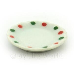 4x-Miniatura-Para-Casa-De-Munecas-Dotty-Diseno-Ceramica-25mm-platos