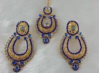 Gold Plated Designer Zerconic Kundan Fashoin Earrings Jhumka Style With Tikka