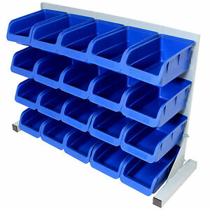 Exceptionnel Image Is Loading 20PCE FREE STANDING BLUE PLASTIC STORAGE BIN KIT