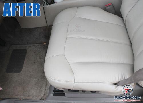 Driver Side Bottom Leather Seat Cover Med Dark Oak Tan 99-00 Chevy Silverado LT