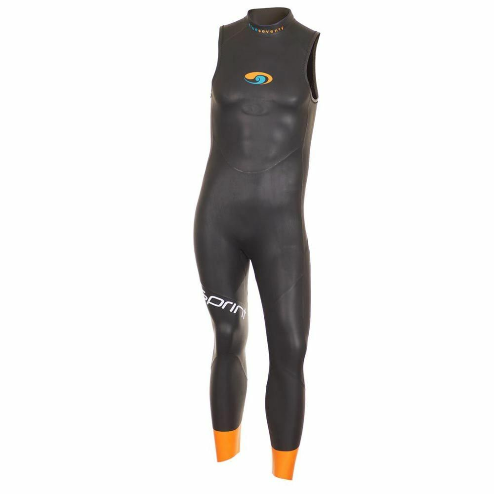 Blauseventy Sprint Long John Sleeveless Triathlon wetsuit Men Größe SM
