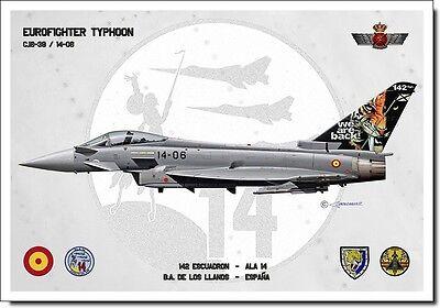 Eurofighter Aviation Art Spanish Air Force Ejército del Aire España Spain Print