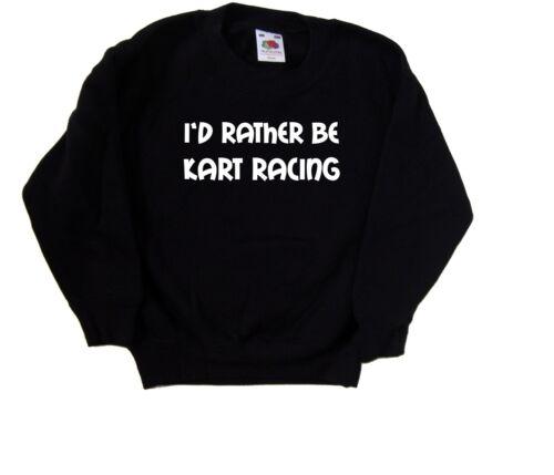 I/'d Piuttosto Essere Kart Racing Kids Felpa