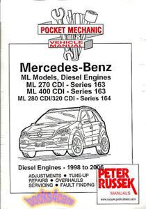 mercedes ml shop manual service repair book ml400 ml270 ml320 cdi rh ebay com Jaime Russek Linda Russek