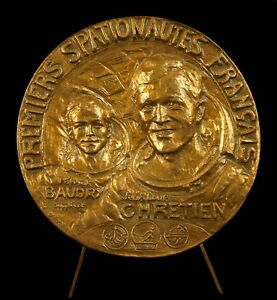 Medaille-72mm-cosmonautes-spationautes-astronaut-Space-Soyouz-T6-Saliout-7-Medal
