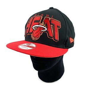 New Era 9Fifty MIAMI HEAT Snapback Hat Cap Embroidered NBA Basketball