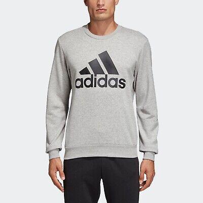 Trend Mark Adidas Crew Sweatshirt Grey Black Sz Large Dt9937 Men's Hoodies & Sweatshirts Clothing, Shoes & Accessories