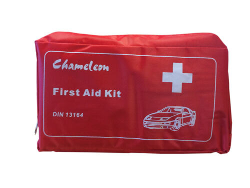 First Aid Kit Pouch for Travel Emergencies Home Holiday - DIN 13164 Approved