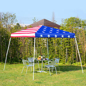 American Flag 10 X10 Party Pop Up Tent Outdoor Patio