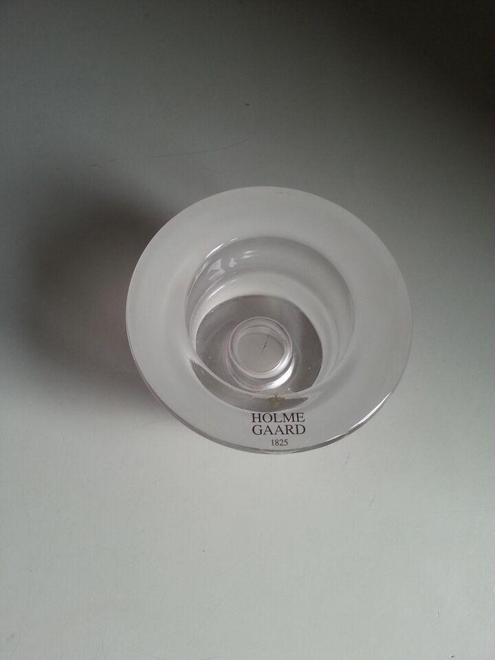 Glas, Lysestage - Fyrfadsstage x 2, HOLMEGAARD - PoP