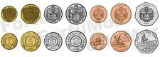 GUYANA 7 PCS COIN SET, 1 5 10 25 CENTS 1 5 10 DOLLARS, 1990 2013, UNC