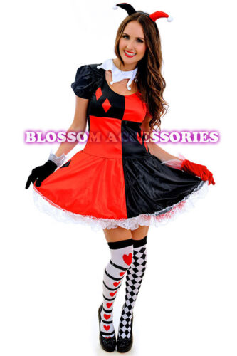 J45 Harlequin  Circus Outift Cirque Clown Fancy Dress Up Halloween Party Costume