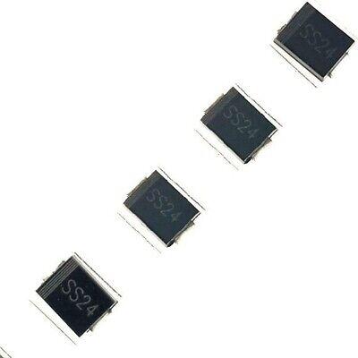 100PCS SS24 SR240 SK24 2A//40V SMA DO-214AC SMD Schottky Diodes