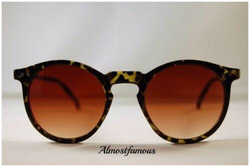 80s Retro fashion sunglasses tortoise vintage remade keyhole round good quality