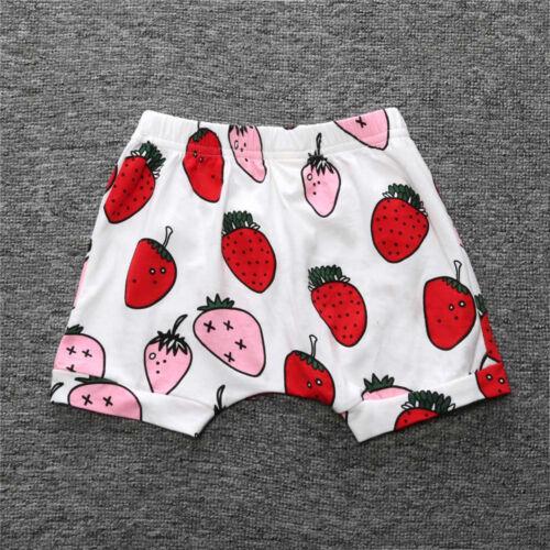 Cool Lovely Fashion Toddler Kids Newborn Baby Girls Boys Print Baby Shorts Pants