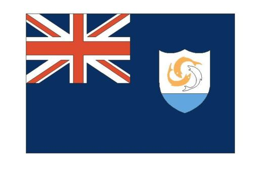 Anguilla Flag Sticker MADE IN THE USA F26 CHOOSE SIZE FROM DROPDOWN