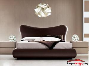 Dettagli su SET Lampadario moderno camera da letto UFO 50x35cm + 2 Lampade  comodino vintage