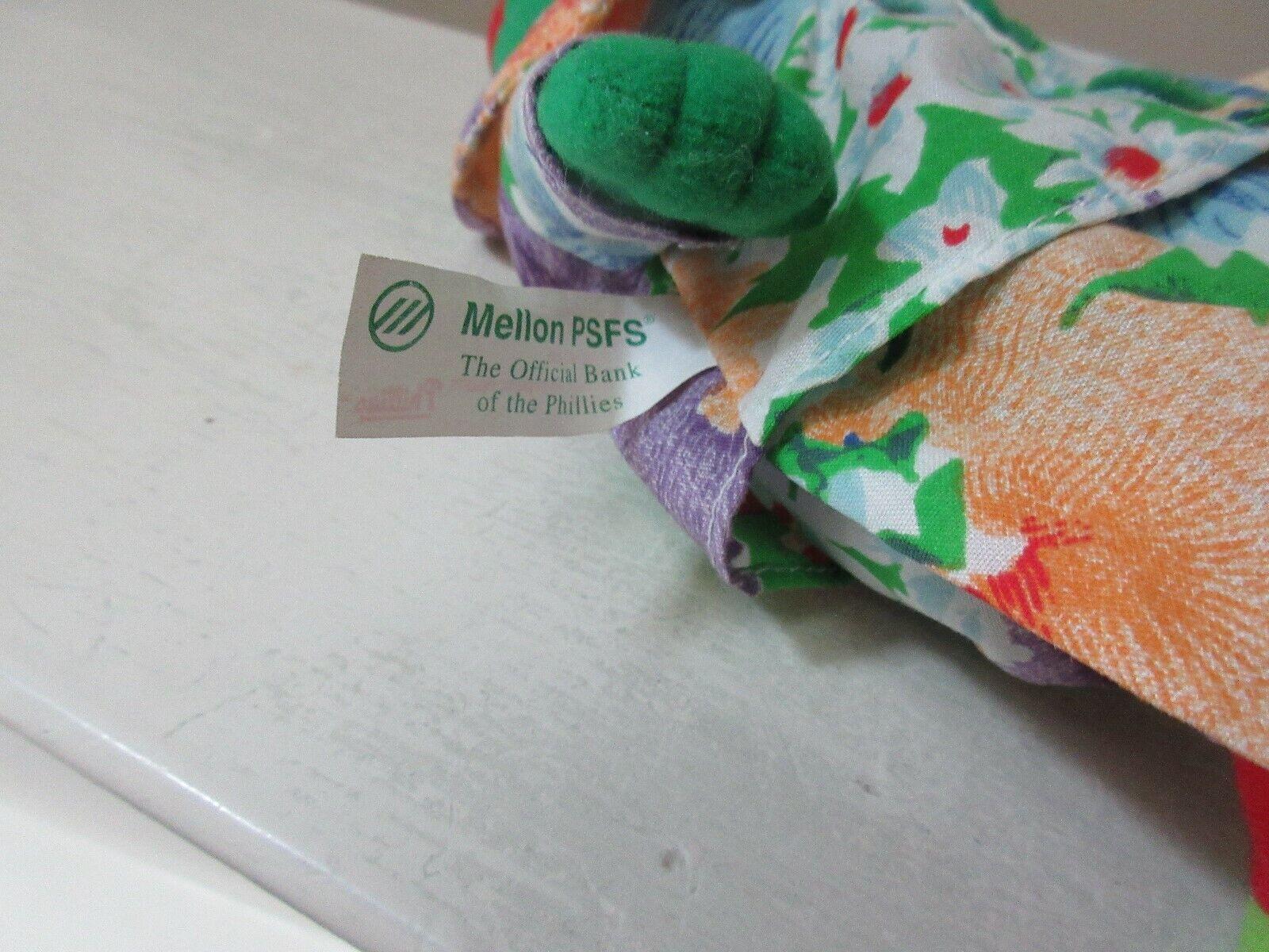 Phillie Phanatic , Beanie Bag , Sponsored by Mellon Ban