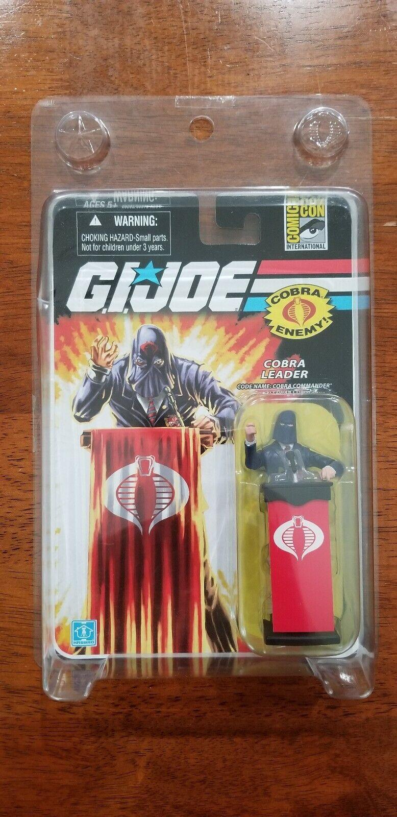 Sdcc 2008 Hasbro Exclusivo Gi Joe Cobra Commander acto Fig Variante azul Traje