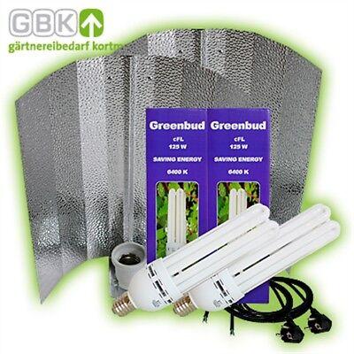 Greenbud 2 X 125-w 250-w Watt Blau Wuchs Energiespar-lampe Esl Cfl Grow Pflanzen Modischer (In) Stil;