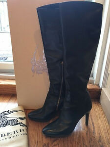 0525bd3c43f BURBERRY PRORSUM Woman s Boots Heels Shoes Leather Sz 39.5 Eur 9.5 ...