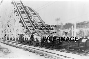 1920/'s VINTAGE EXCELSIOR AMUSEMENT PARK WOOD ROLLER COASTER MN PHOTO AMERICANA