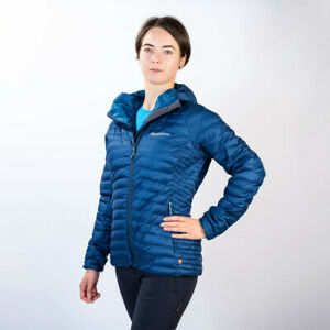 Montane Womens Atomic Outdoor Jacket Top Blue Sports Outdoors Full Zip Hooded