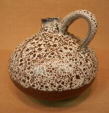 Keramik Vase Henkelvase Krug Töpferhof Römhild Studiokeramik DDR grau braun 12cm
