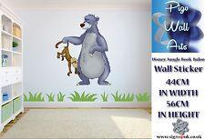 Disney Jungle Book Art wall Sticker Baloo Children's room décor large