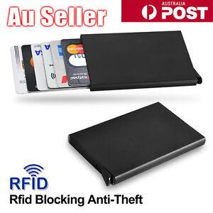 RFID Blocking Aluminum Slim Wallet ID Credit Card Holder Case Protector Purse OZ