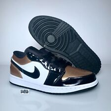 Nike Air Jordan 1 Low Retro Gold Toe Black Metallic CQ9447 700 Size 8-13 New