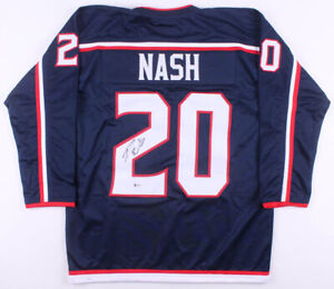Riley-Nash-Signed-Columbus-Blue-Jackets-Ice-Hockey-Jersey-Beckett-COA-Autograph