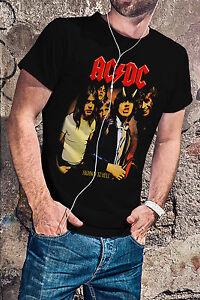 AC-DC-Highway-To-Hell-Men-Black-T-Shirt-ACDC-Rock-Band-Tee-Shirt
