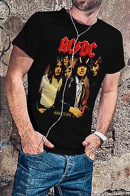 AC DC HELLS BELLS acdc Langarm Black T-shirt Men Shirt Rock Band Tee Music