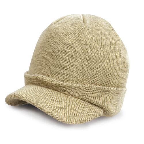 Boys Girls Childs Kids GREEN BEIGE BLUE CAMOUFLAGE Esco Army Knitted Beanie Hat