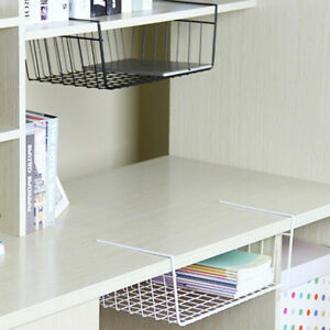 Shelf-Basket-Wire-Rack-Wire-Wrap-Storage-Organizer-Kitchen-Pantry-Cabinet-New