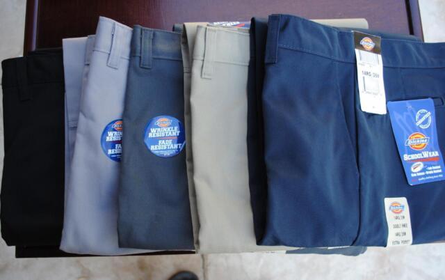 ff37b97015 Dickies Boys Pants Double Knee Multi-use Pocket School Uniform 8 - 20 85562