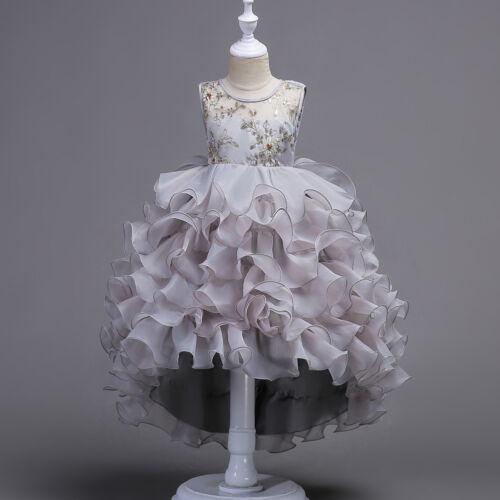 Kids Flower Girls Princess Dress Party Wedding Bridesmaid Evening Prom Dresses