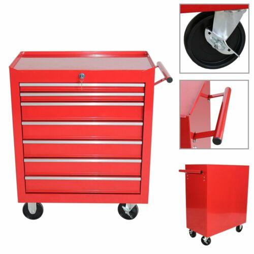 Werkstattwagen Werkzeugschrank 7 Schubladen Werkzeugkiste Werkzeugwagen Box