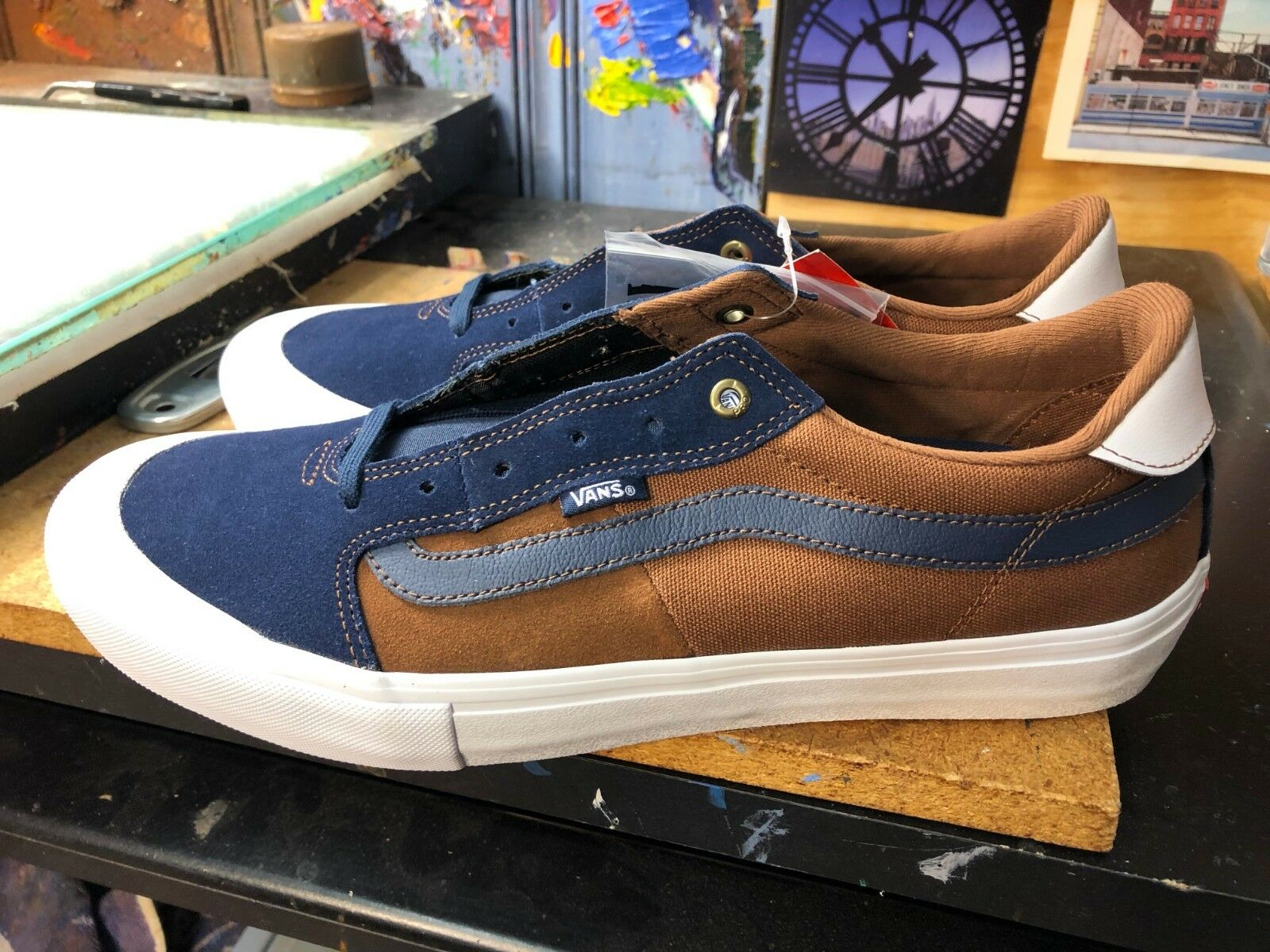 3d4aa62d30a6a Vans (Style (Style (Style 112) PRO Dress bluees Dachshund Suede Size US ...