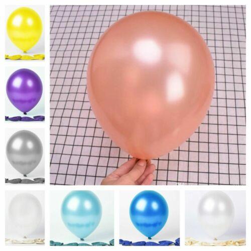 """500 Latex 12/"""" PEARL Metallic BALLOONS BALLONS helium BALOONS Birthday Wedding U"""