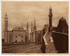 Héliogravure par Lehnert & Landrock vers 1910 La mosquée Hassan Egypt Cairo