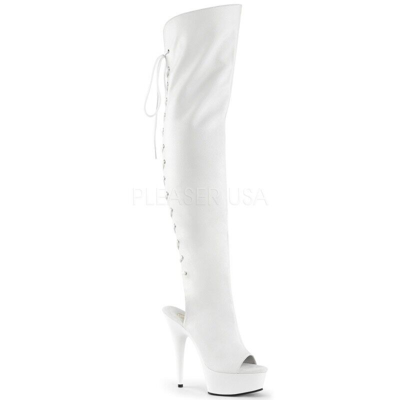 Pleaser Delight - 3019 botas de plataforma Peep Peep Peep Toe weifl tabledance poledance Go...  diseños exclusivos