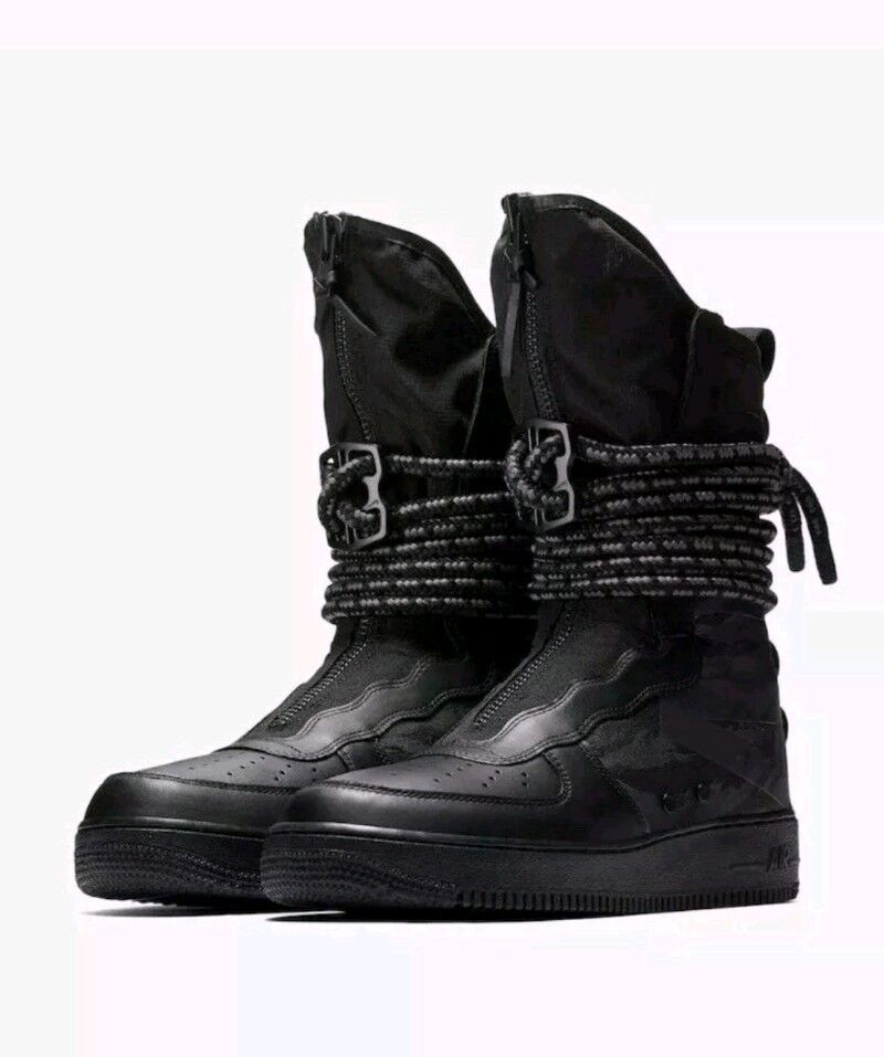 9.5 MEN'S NIKE AIR FORCE 1 SF AF1 HI BOOTS SPECIAL FIELD BLACK GREY AA1128 002